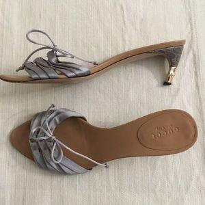 Gucci Satin Light Purple Slide Heels Sandals Sz.8B